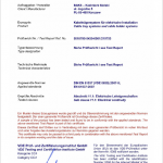 Certificate VDE - Electrical Continuity 1