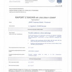 Certificate of Compilance for Electrical Tests
