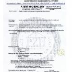 Hygenic Certificate