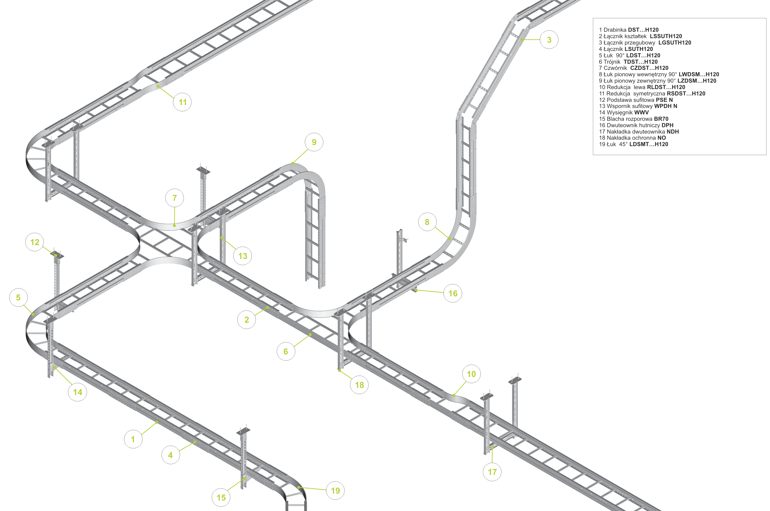 drabinki kablowe - system samonosny-mod