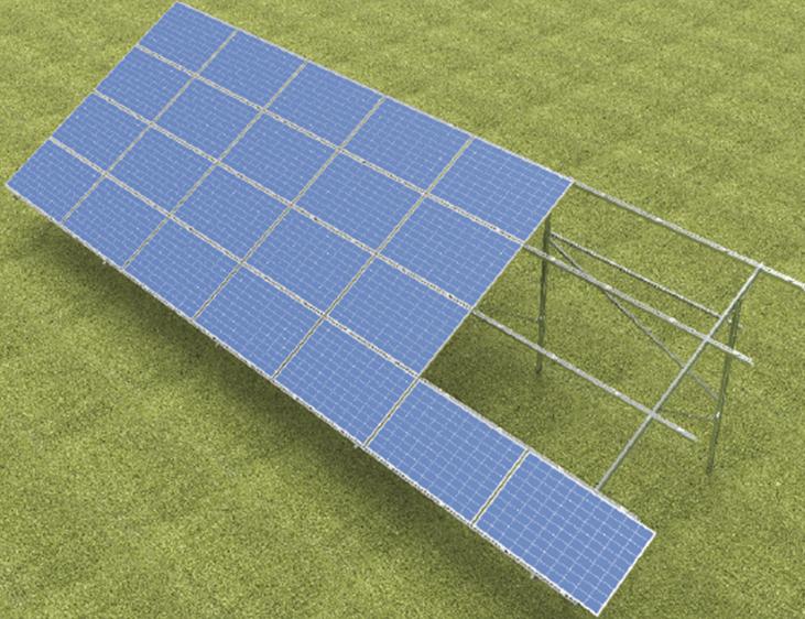 Dodatkowe Konstrukcje do paneli fotowoltaicznych, solarnych, ogniw SL44